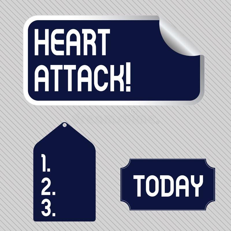 Signe des textes montrant la crise cardiaque Occurrence soudaine de photo conceptuelle d'infarctus du myocarde ayant pour r?sulta illustration stock