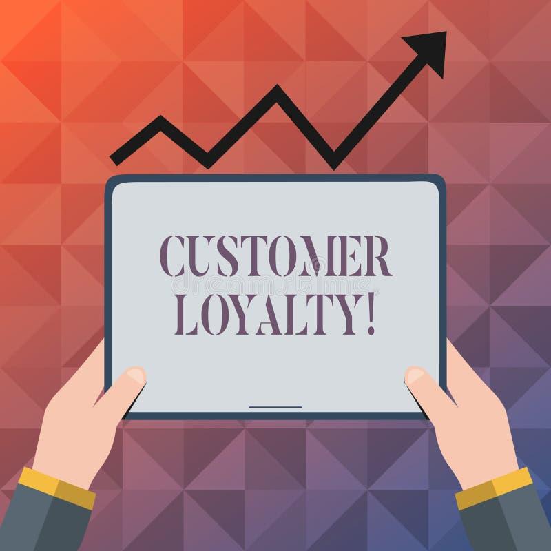 Signe des textes montrant la fidélité de client Confiance à long terme de relation de photo de satisfaction conceptuelle de clien illustration libre de droits