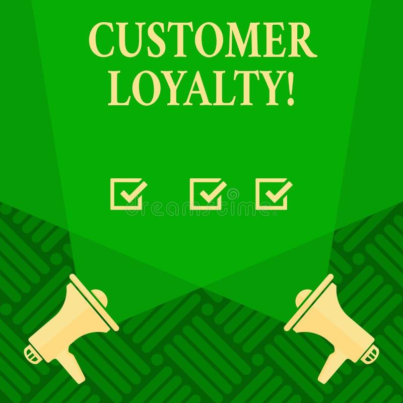 Signe des textes montrant la fidélité de client Confiance à long terme de relation de photo de satisfaction conceptuelle de clien illustration de vecteur