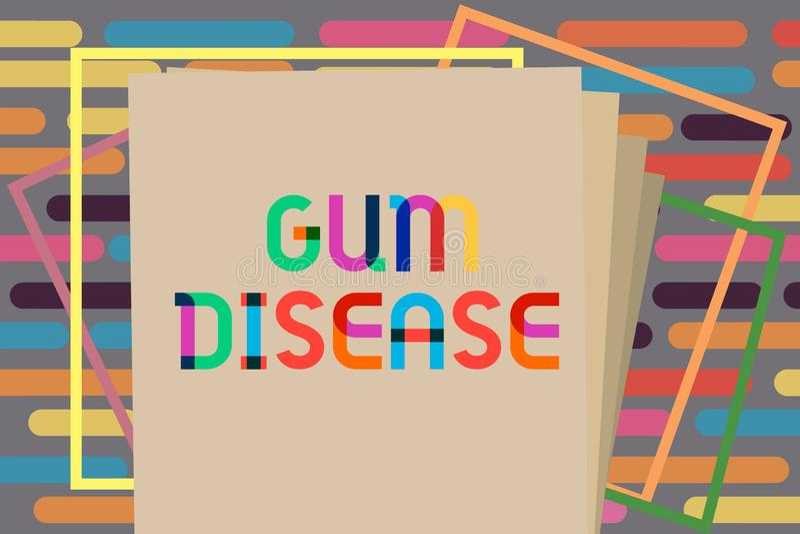 Signe des textes montrant la maladie des gencives Inflammation conceptuelle de photo de la gingivite molle Periodontitis de tissu illustration libre de droits