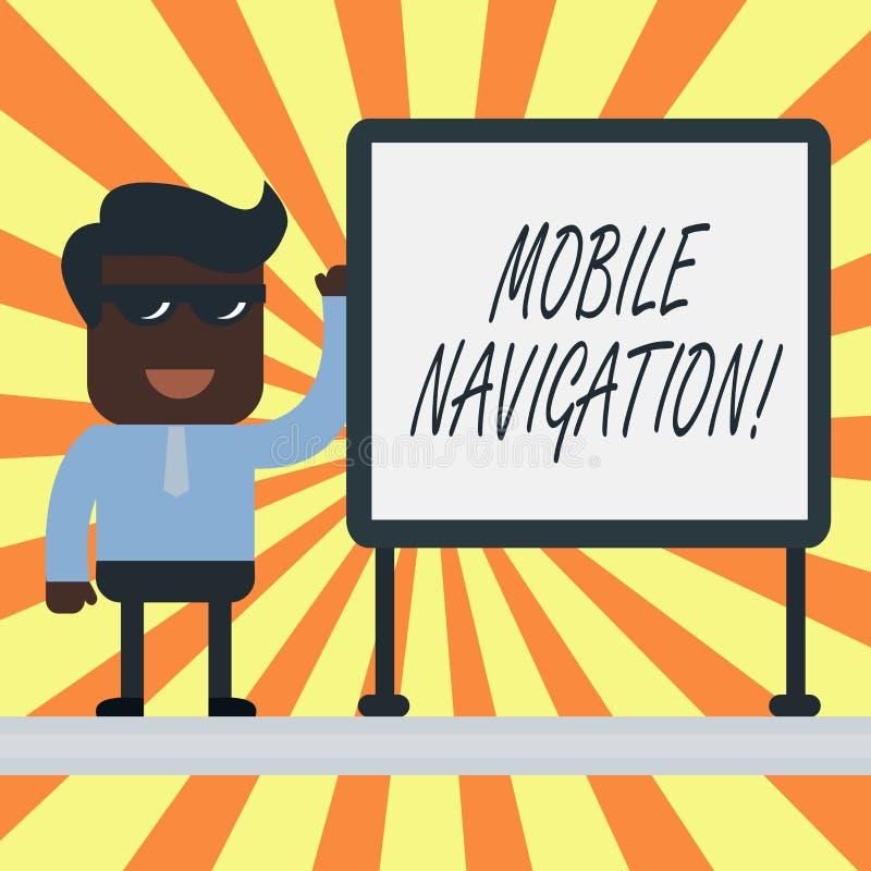 Signe des textes montrant la navigation mobile Interface utilisateur graphique conceptuelle de photo employ?e pour faciliter le c illustration de vecteur