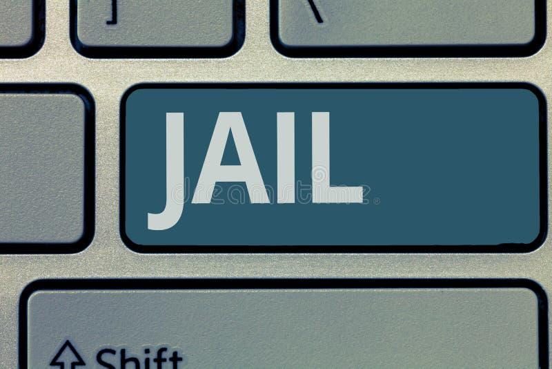 Signe des textes montrant la prison Endroit conceptuel de photo pour l'emprisonnement des personnes accusées et condamnées d'un c photo stock