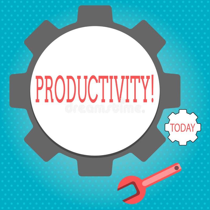 Signe des textes montrant la productivité Grand succès de perforanalysisce de travail efficace conceptuel de photo illustration de vecteur