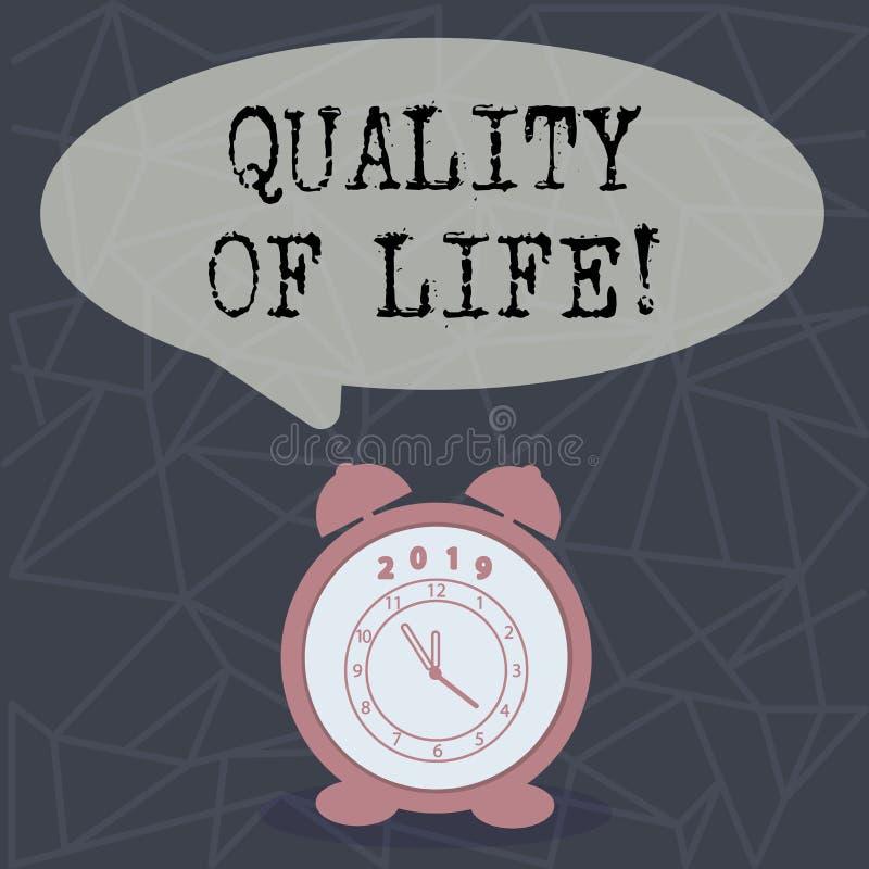 Signe des textes montrant la qualité de vie Bien-être agréable de moments de photo de bon bonheur conceptuel de mode de vie illustration stock