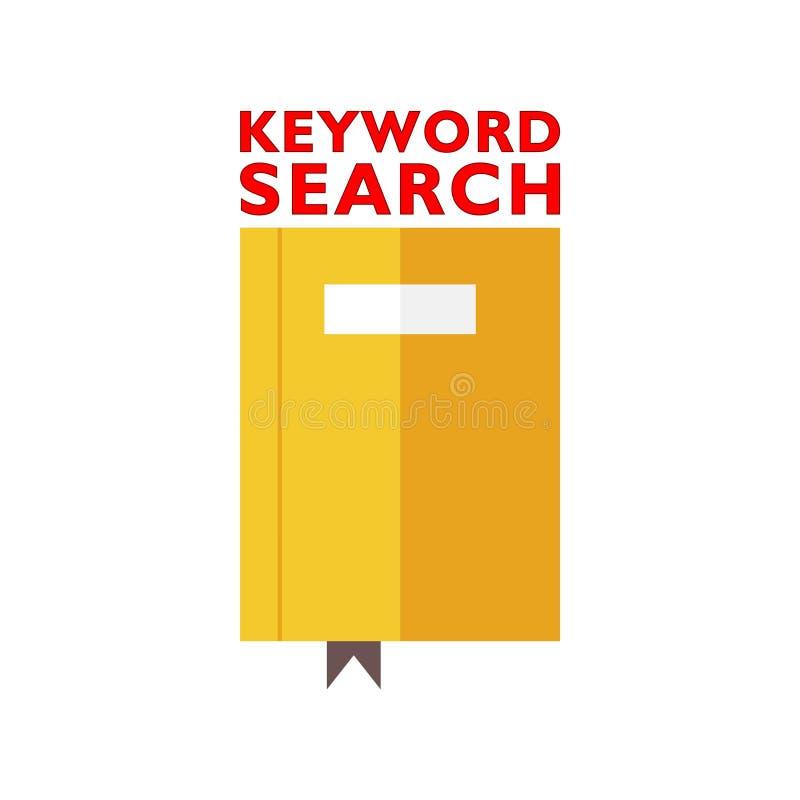 Signe des textes montrant la recherche par mot-cl? illustration de vecteur