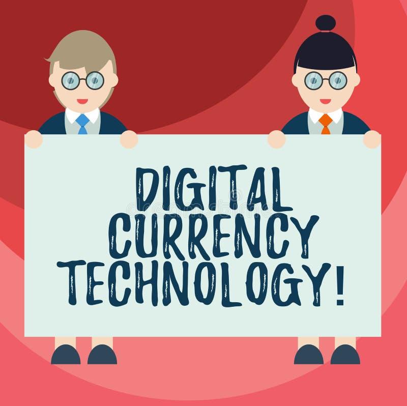 Signe des textes montrant la technologie de devise de Digital Devise conceptuelle de photo disponible dans le mâle numérique ou d illustration stock