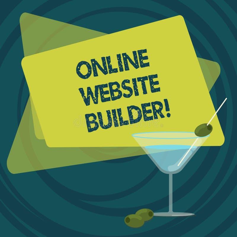 Signe des textes montrant le constructeur en ligne de site Web Programme conceptuel ou outil de photo qui vous aident à construir illustration libre de droits