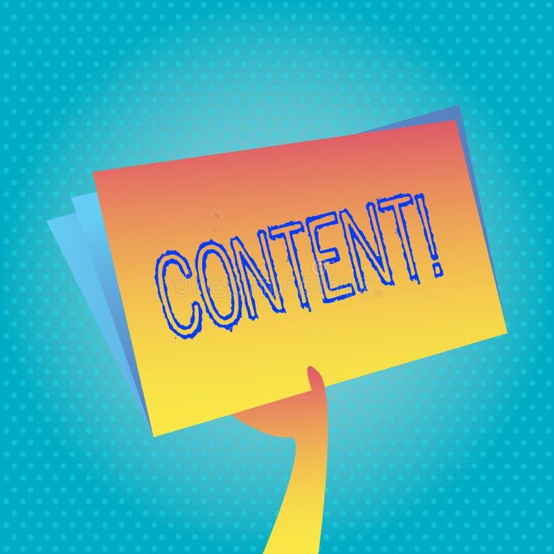 Signe des textes montrant le contenu Site Web conceptuel de photo contenant l'exclusivité et contenant l'information riche illustration libre de droits
