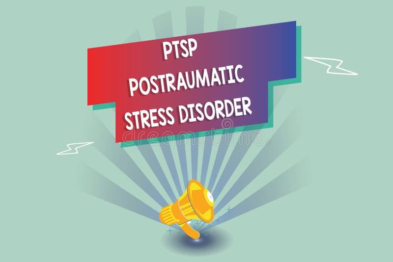 Signe des textes montrant le désordre d'effort de Ptsd Postraumatic Stress émotionnel mental sérieux d'état de photo conceptuelle illustration stock