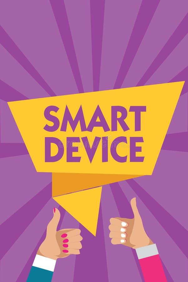 Signe des textes montrant le dispositif intelligent L'instrument électronique de photo conceptuelle que capable relier la part ag illustration libre de droits