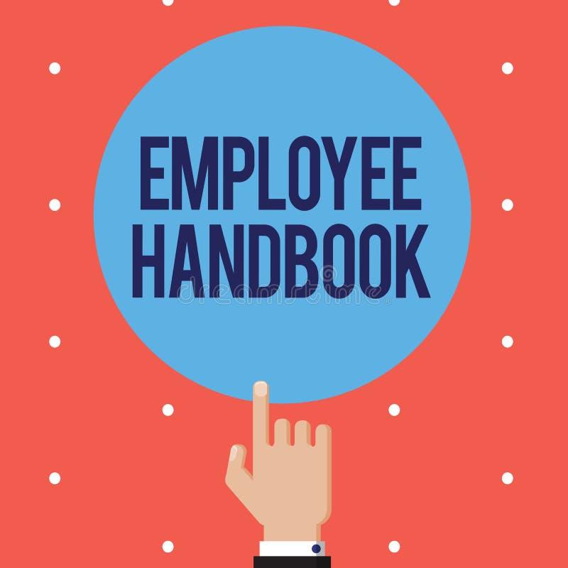 Signe des textes montrant le guide des employés Document conceptuel de photo qui contient des modes opératoires de société illustration libre de droits