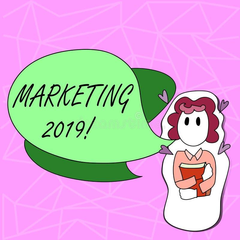 Signe des textes montrant le marketing 2019 Nouveau début conceptuel de stratégies du marché de nouvelle année de photo annonçant illustration libre de droits