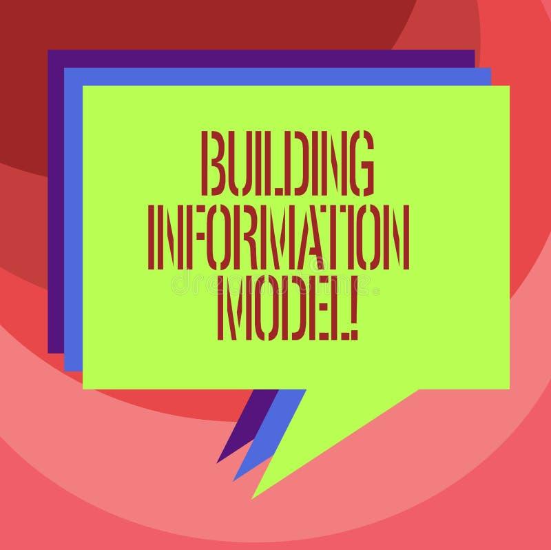 Signe des textes montrant le modèle de construction de l'information Représentation de Digital conceptuelle de photo de pile phys illustration libre de droits