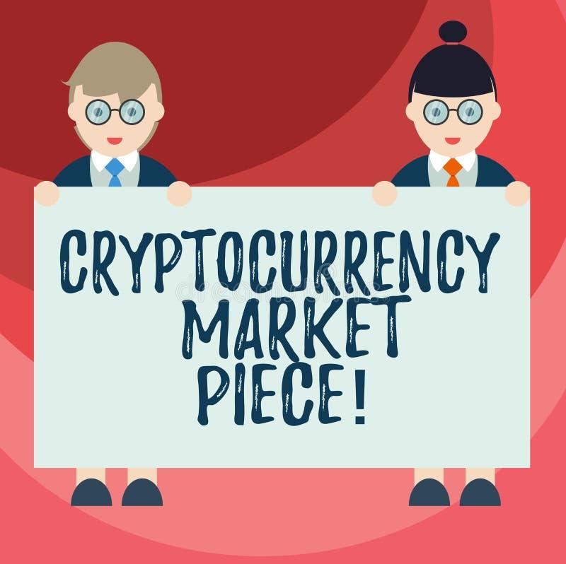 Signe des textes montrant le morceau du marché de Cryptocurrency Capitaux conceptuels de Digital de photo qui peuvent être échang illustration stock