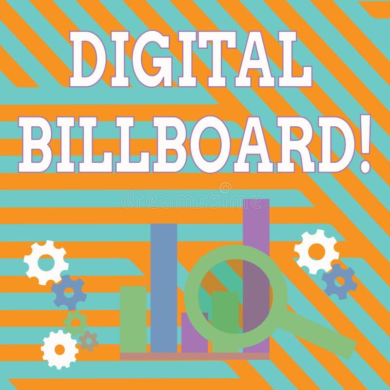 Signe des textes montrant le panneau d'affichage de Digital Panneau d'affichage conceptuel de photo qui montre des images numériq illustration stock