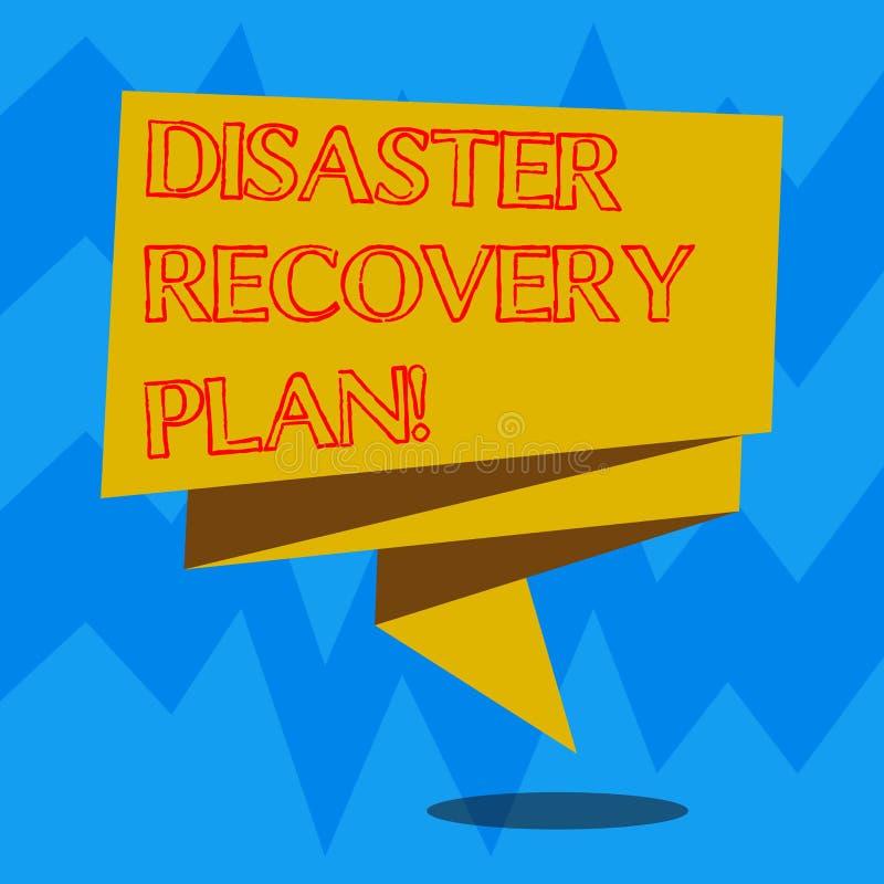 Signe des textes montrant le plan antisinistre Plan conceptuel de photo pour la stabilité d'affaires en cas de la catastrophe pli illustration de vecteur