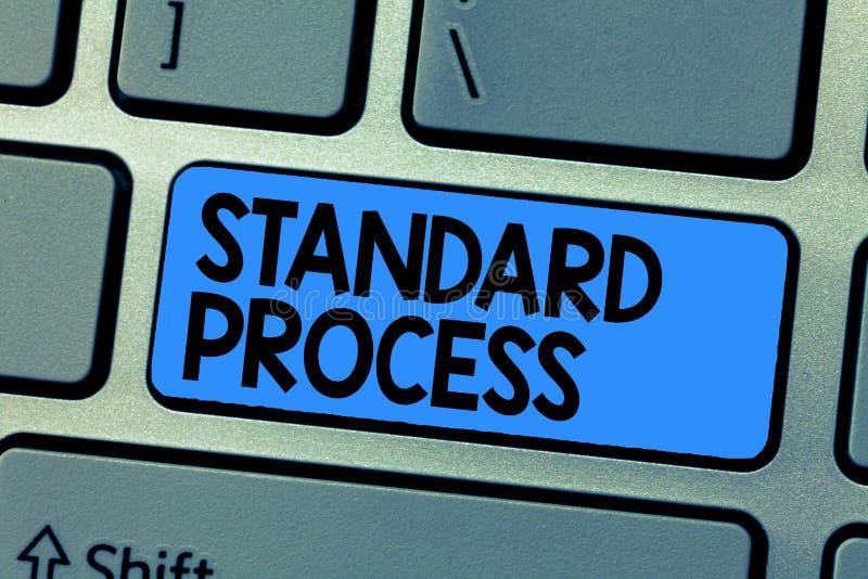 Signe des textes montrant le processus standard Règles conceptuelles de photo établies pour être assorti avec la qualité de produ image libre de droits