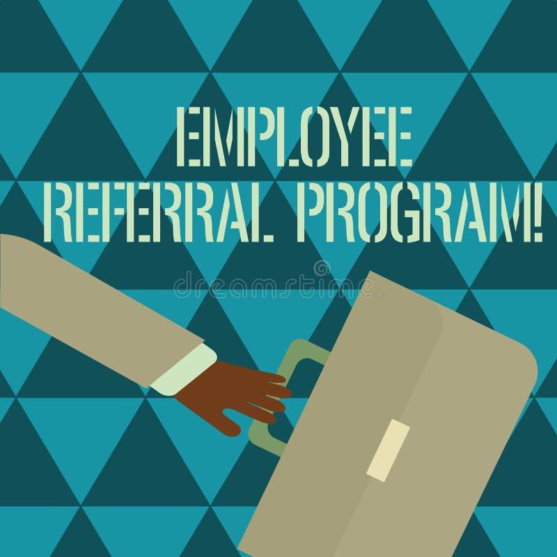 Signe des textes montrant le programme de référence des employés Méthode interne de recrutement de photo conceptuelle utilisée pa illustration stock