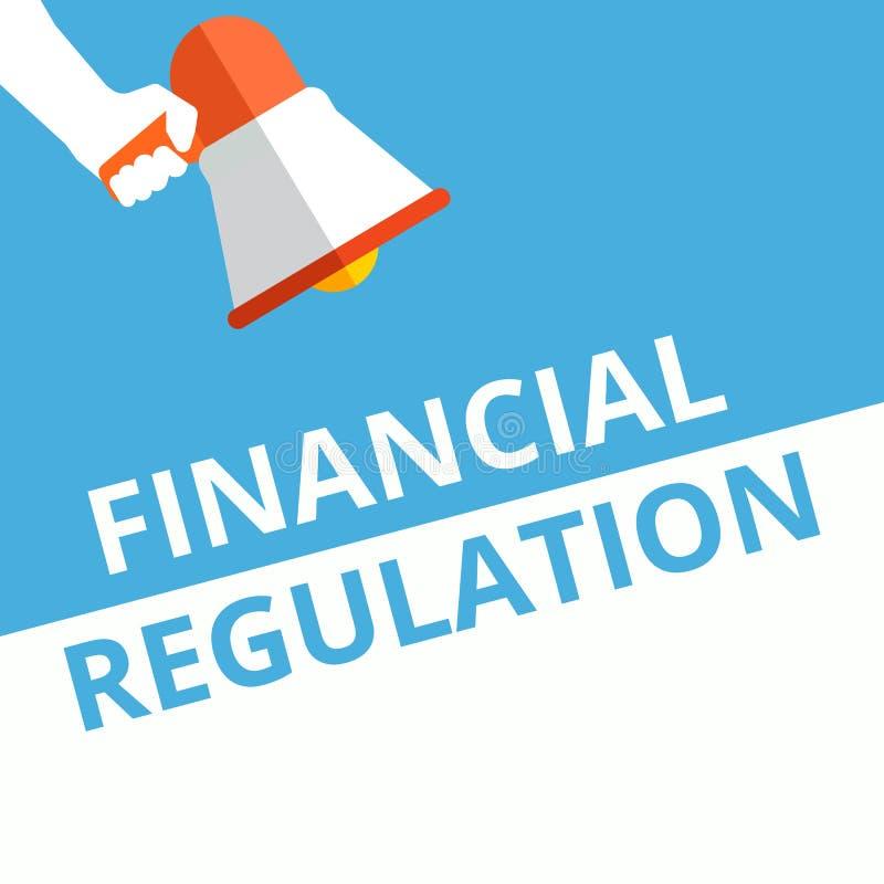 Signe des textes montrant le règlement financier illustration stock