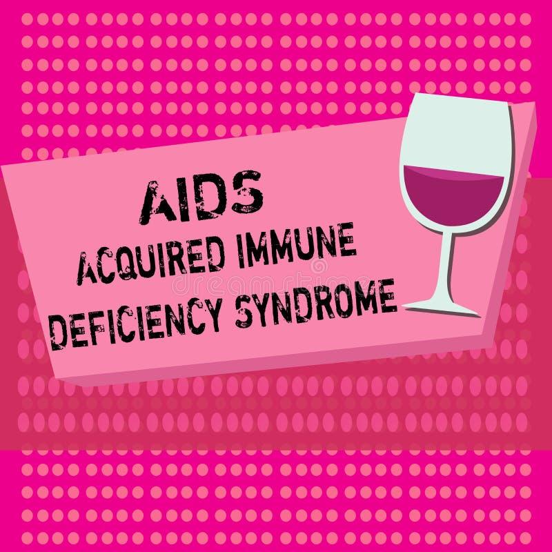 Signe des textes montrant le syndrome d'immunodéficience acquise de SIDA Étape sérieuse de photo conceptuelle de la maladie d'HIV illustration stock