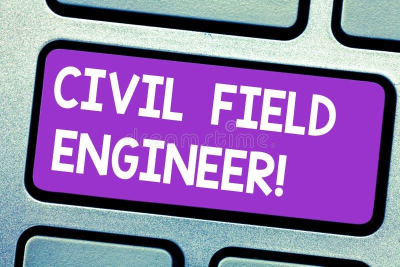 Signe des textes montrant le technicien civil La photo conceptuelle surveillent la construction et l'entretien du clavier de fond photographie stock libre de droits
