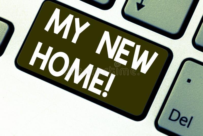 Signe des textes montrant ma nouvelle maison Relocalisation conceptuelle de photo se déplaçant à une autre intention de clé de cl photographie stock