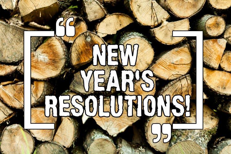 Signe des textes montrant des résolutions de la nouvelle année S Les objectifs conceptuels de buts de photo vise des décisions po images libres de droits