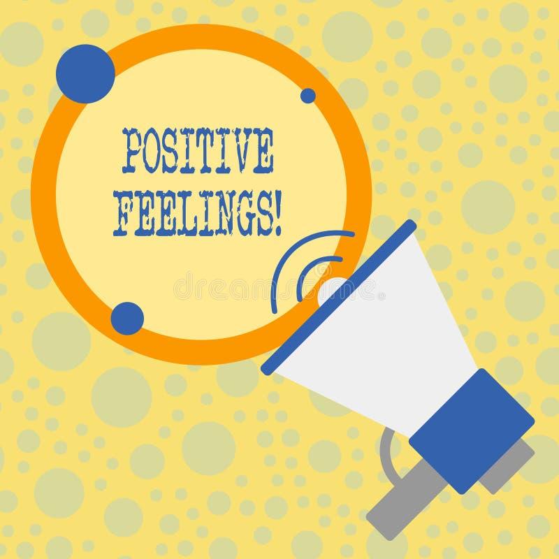 Signe des textes montrant des sentiments positifs Photo conceptuelle tout sentiment où il y a un manque de négativité ou de trist illustration de vecteur