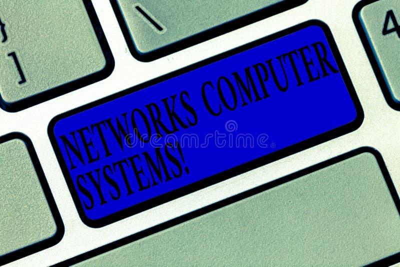 Signe des textes montrant des systèmes informatiques de réseaux Les dispositifs conceptuels de photo lient ensemble pour facilite photographie stock libre de droits
