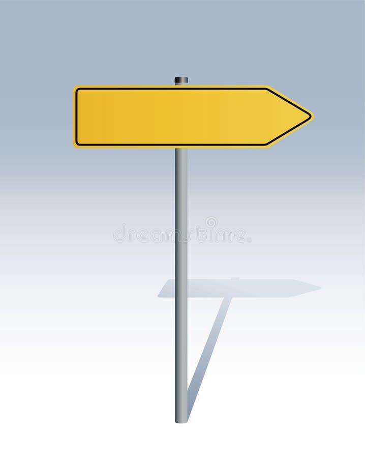 Signe directionnel illustration stock