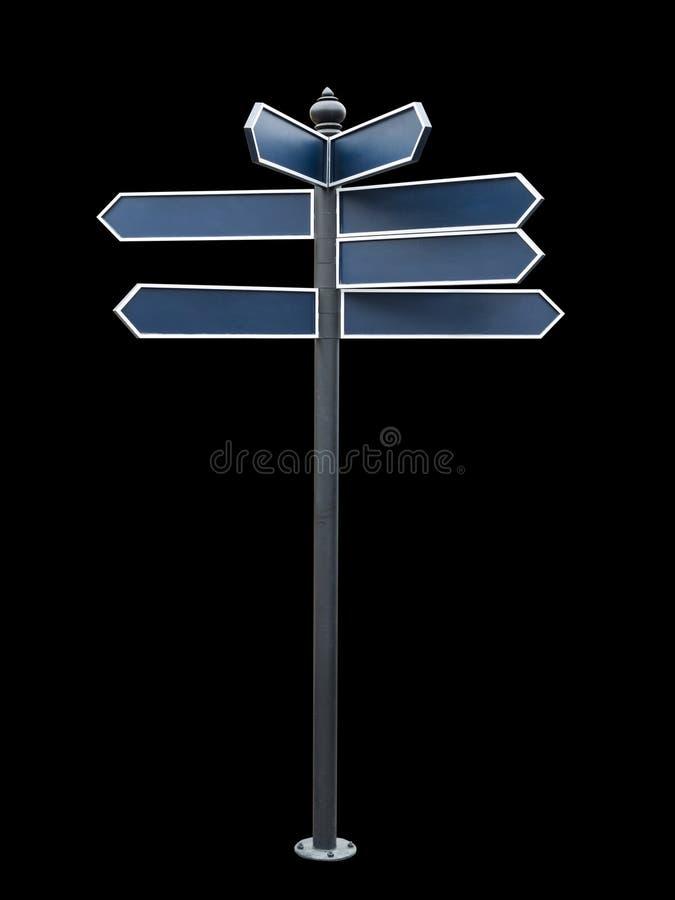 signe directionnel blanc illustration de vecteur