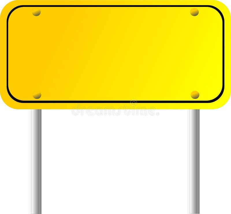 signe directionnel blanc illustration stock
