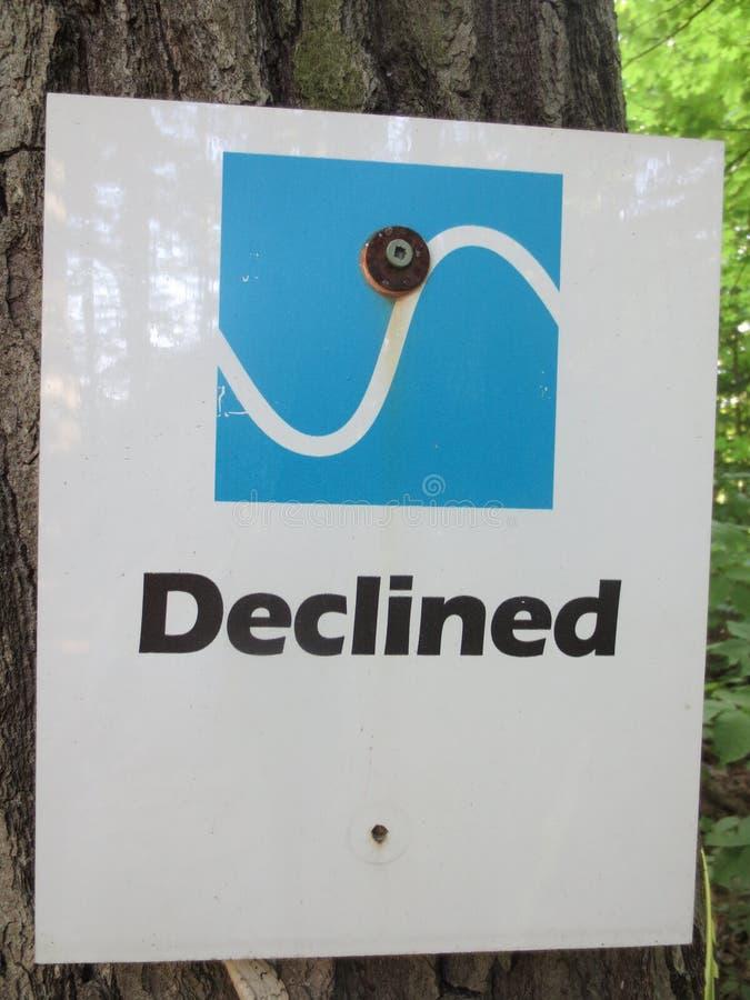 Signe directionnel diminué photo libre de droits
