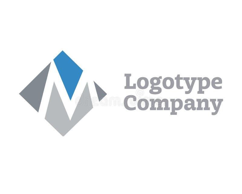 Signe du calibre de conception de logo de la lettre M Branding Identity Corporate illustration de vecteur
