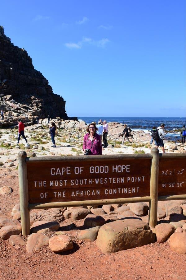 Signe du Cap de Bonne-Espérance, le Cap-Occidental, Afrique du Sud photo stock