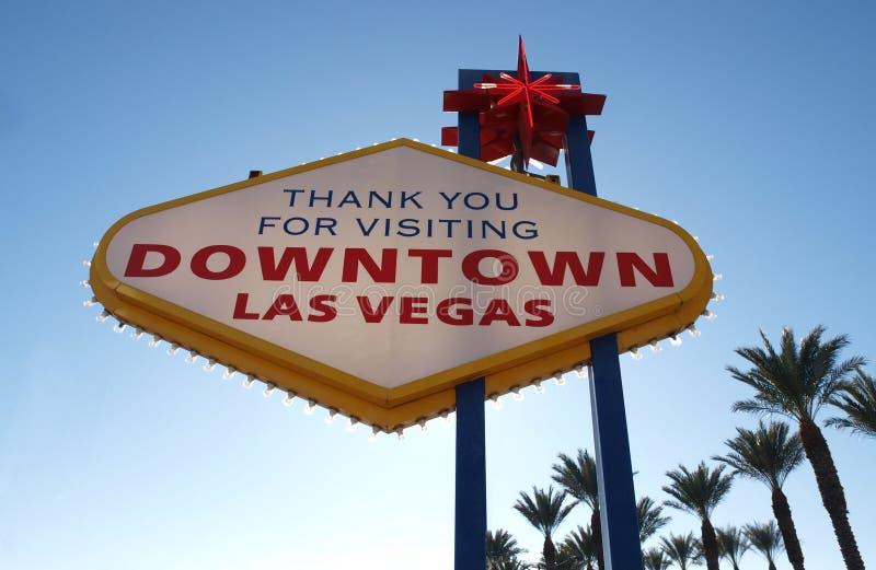 Signe du centre de Las Vegas - derrière image stock
