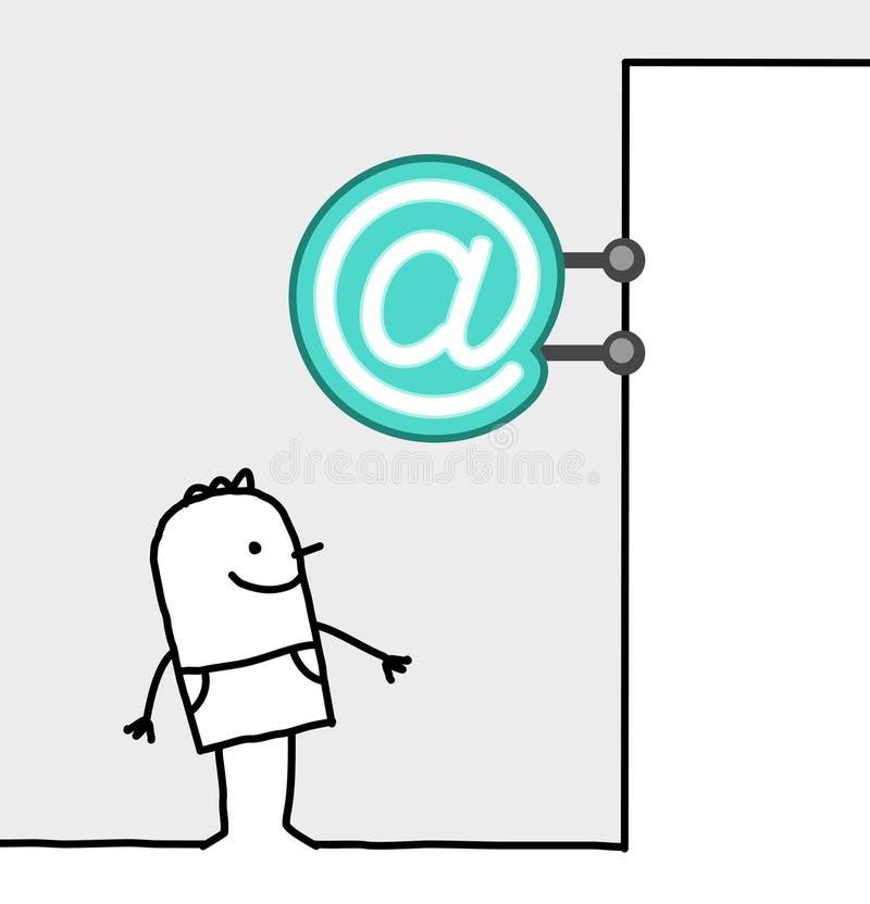 Signe du consommateur et de système - Internet illustration de vecteur