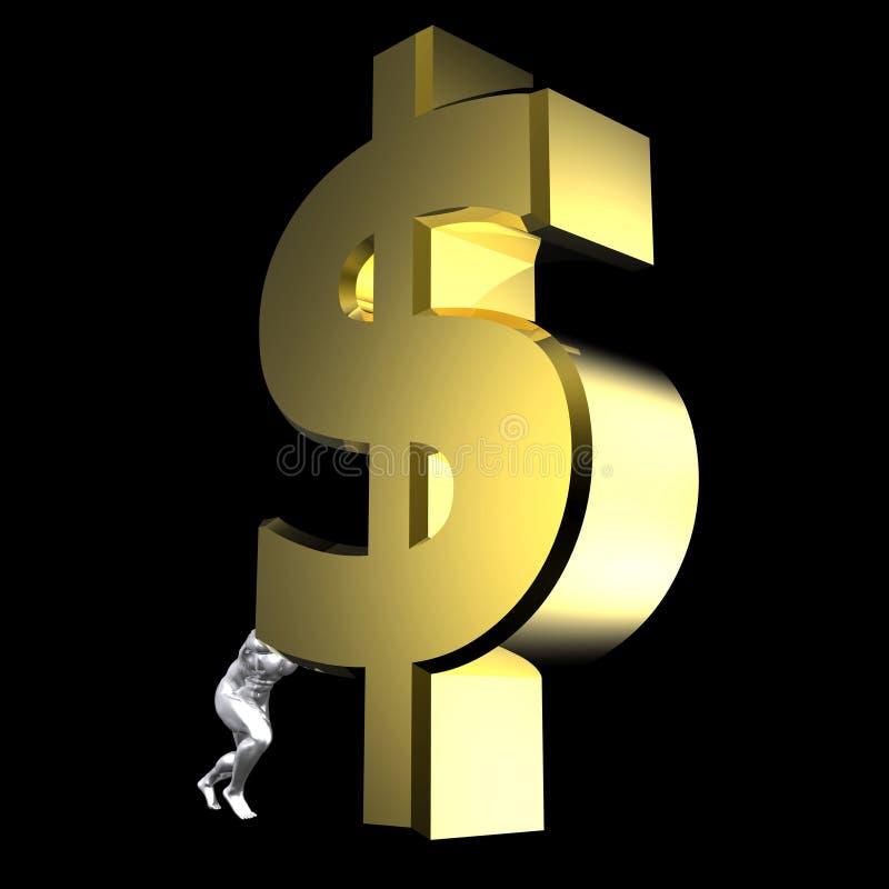 Signe du dollar illustration stock