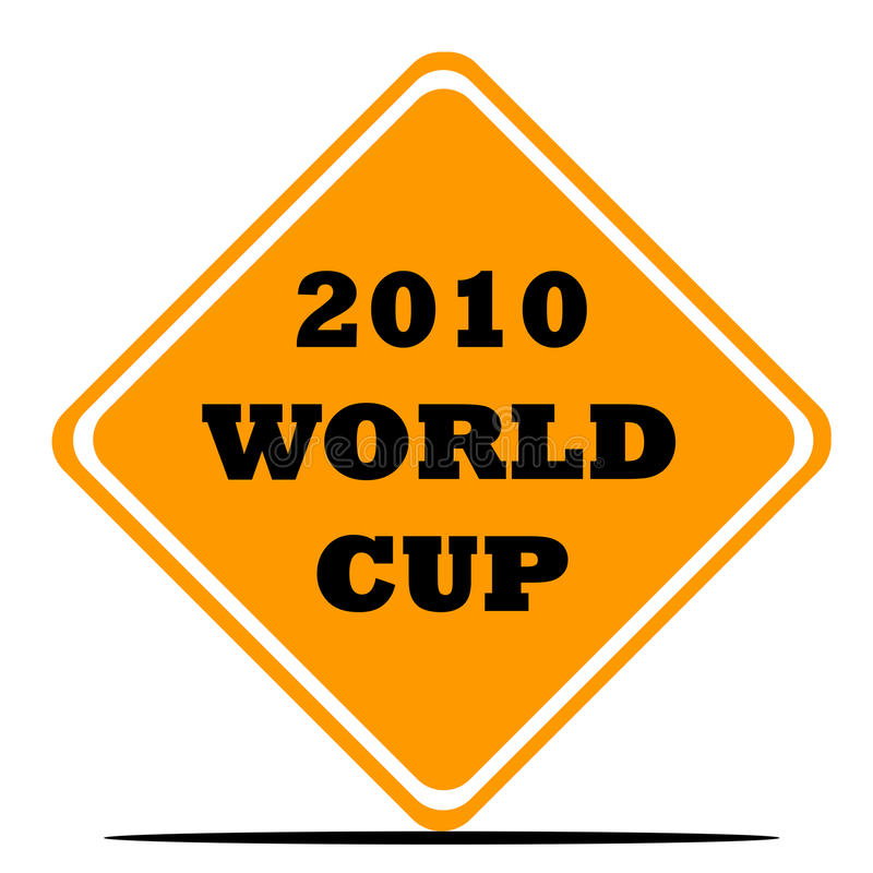 Signe du football de coupe du monde illustration stock