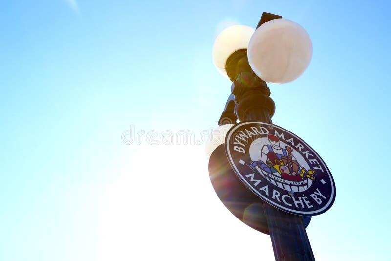 Signe du marché de Byward - Ottawa, Canada photos stock