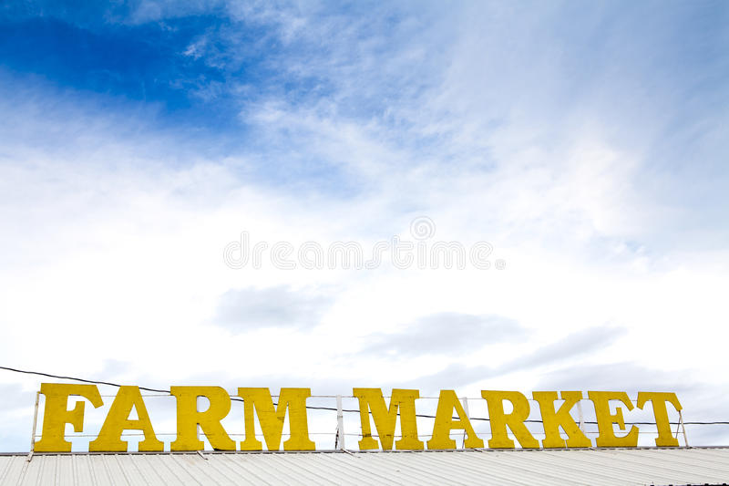 Signe du marché de ferme photographie stock libre de droits