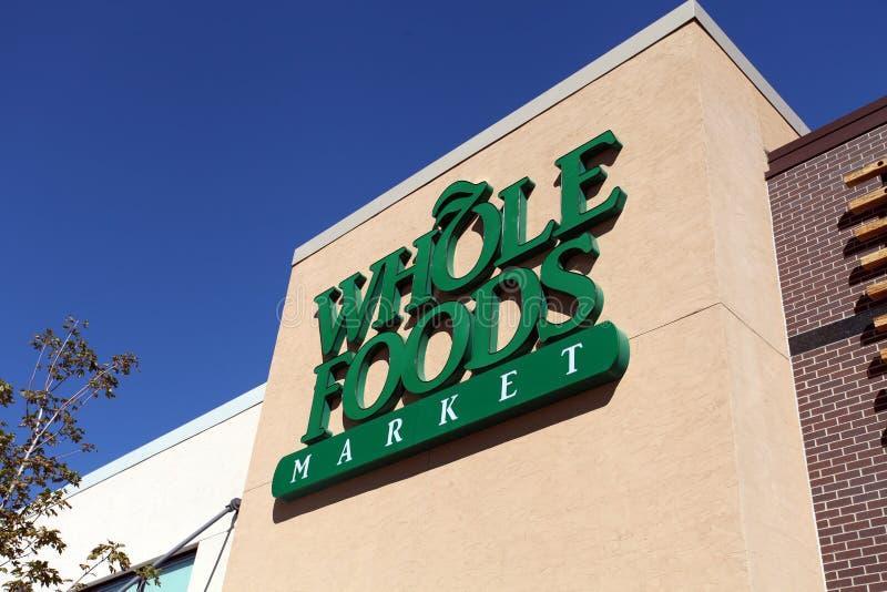 Signe du marché de Whole Foods photographie stock libre de droits