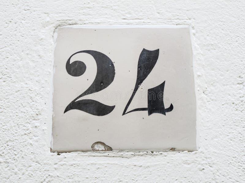 Signe du numéro 24 image stock