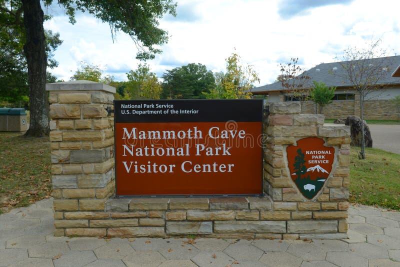 Signe du parc national de caverne gigantesque, Etats-Unis photos libres de droits