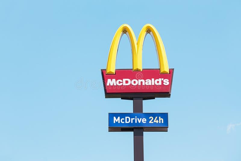 Signe du ` s de McDonald image stock