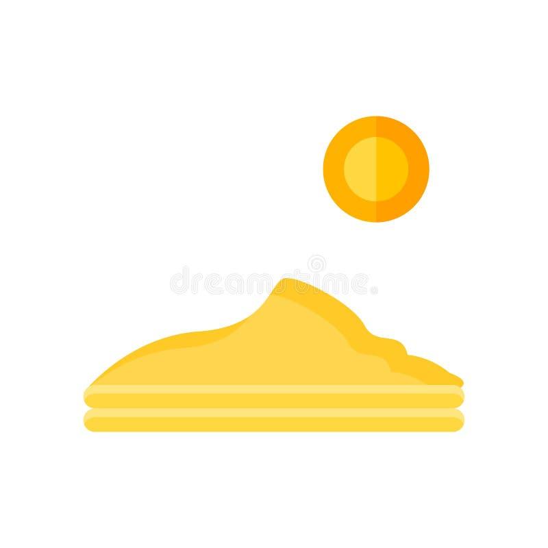 Signe dunaire et symbole de vecteur d'icône d'isolement sur le fond blanc illustration de vecteur