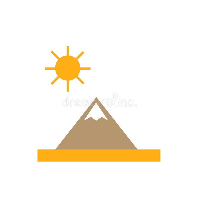 Signe dunaire et symbole de vecteur d'icône d'isolement sur le fond blanc illustration libre de droits