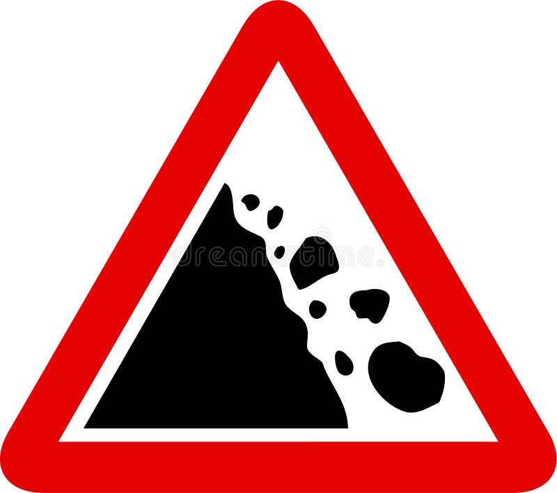 signe en baisse de roches illustration libre de droits