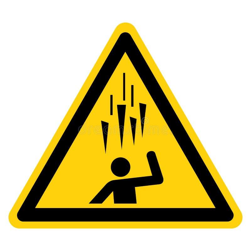 Signe en baisse de symbole de glace, illustration de vecteur, isolat sur le label blanc de fond EPS10 illustration libre de droits