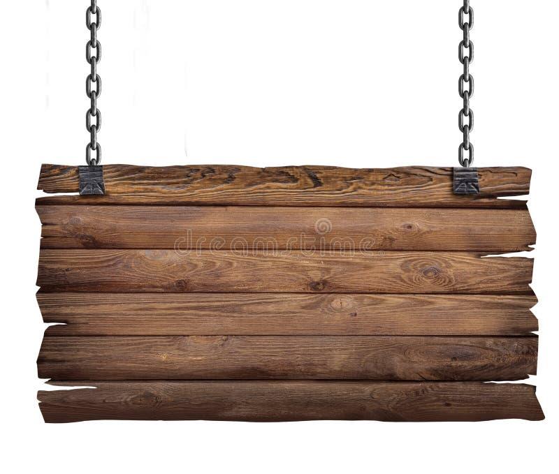 Signe en bois avec le réseau image stock